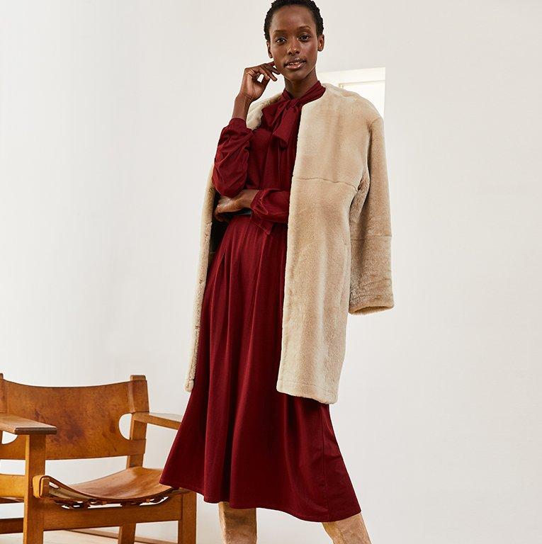 Shop Shearling Coat and more