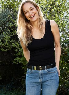 Shop Brenna Top with LENZING™ ECOVERO™ Caviar Black and more