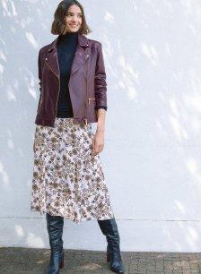 Shop Kara Leather Jacket Darkest Fig and more