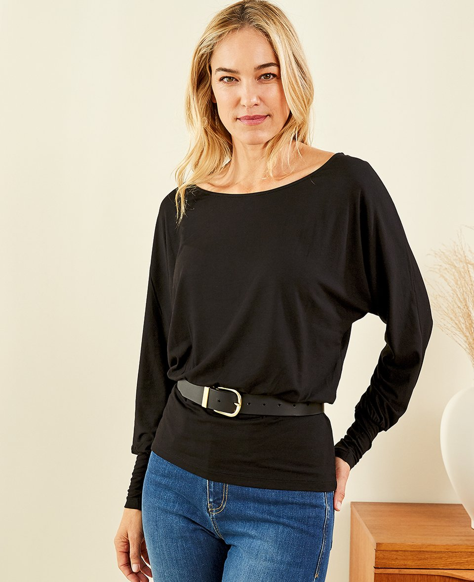 Shop Spenser Ecovero™ Top Caviar Black, Baukjen Signature Gold Buckle Belt Caviar Black and more