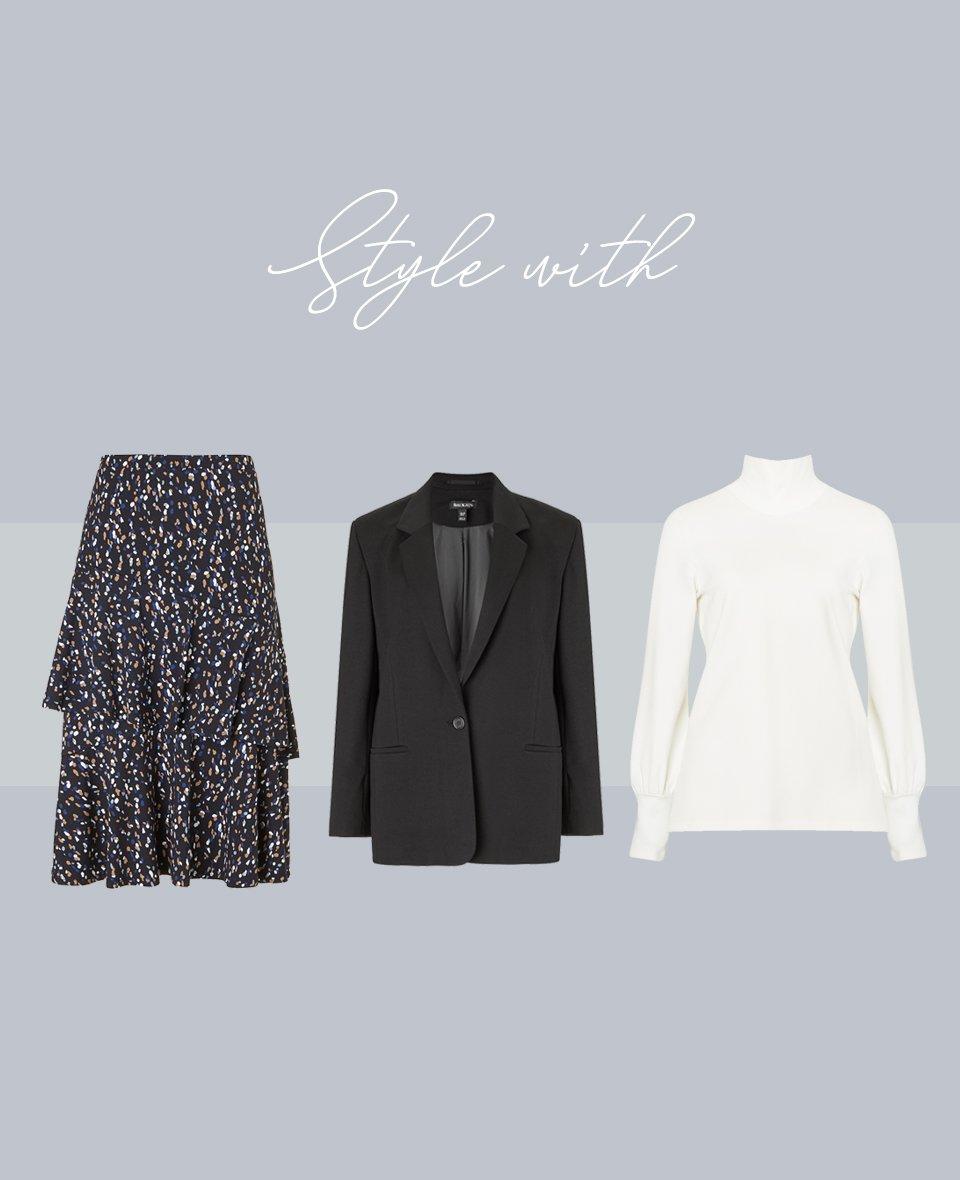 Shop Joelle Top Soft White, Natasha Jacket Caviar Black and more