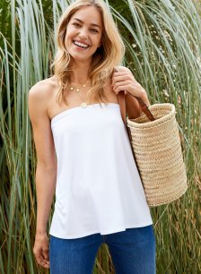 Shop Lily Top with LENZING™ ECOVERO™ Pure White and more