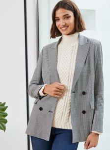 Shop Greta Blazer Black & Grey Mini Check and more