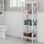 RiverRidge X-Frame Bathroom Towel Tower (Espresso)