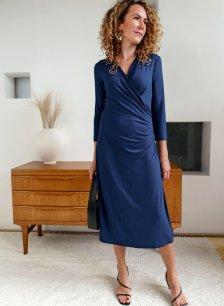 Shop Francesca Ecovero™ Dress Indigo and more