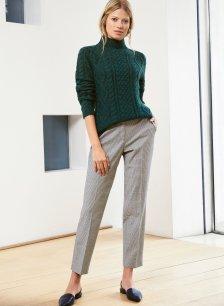 Shop Greta Trouser Black & Grey Mini Check and more