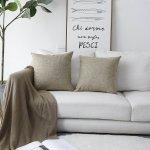 Burlap Linen Textured Cushion Covers