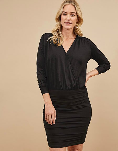 Shop Charlie Ecovero™ Dress Caviar Black and more