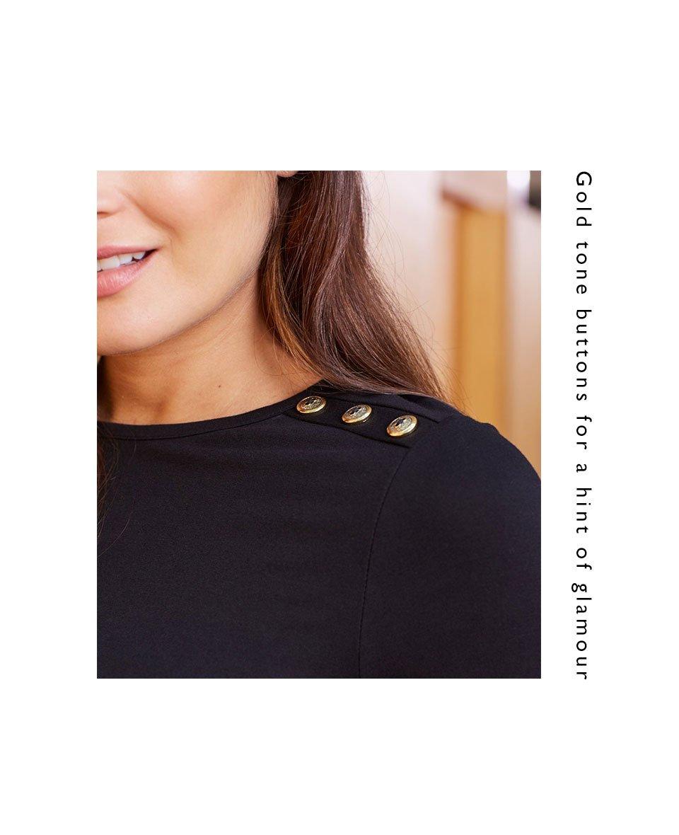 Shop Isabella Oliver Simona Maternity Dress-Caviar Black and more