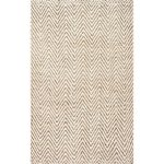 The Curated Nomad Brody Handmade Eco Natural Fiber Jute Chevron Area Rug (4' Round - Natural)
