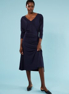 Shop Kezia Ecovero™ Dress Classic Navy and more
