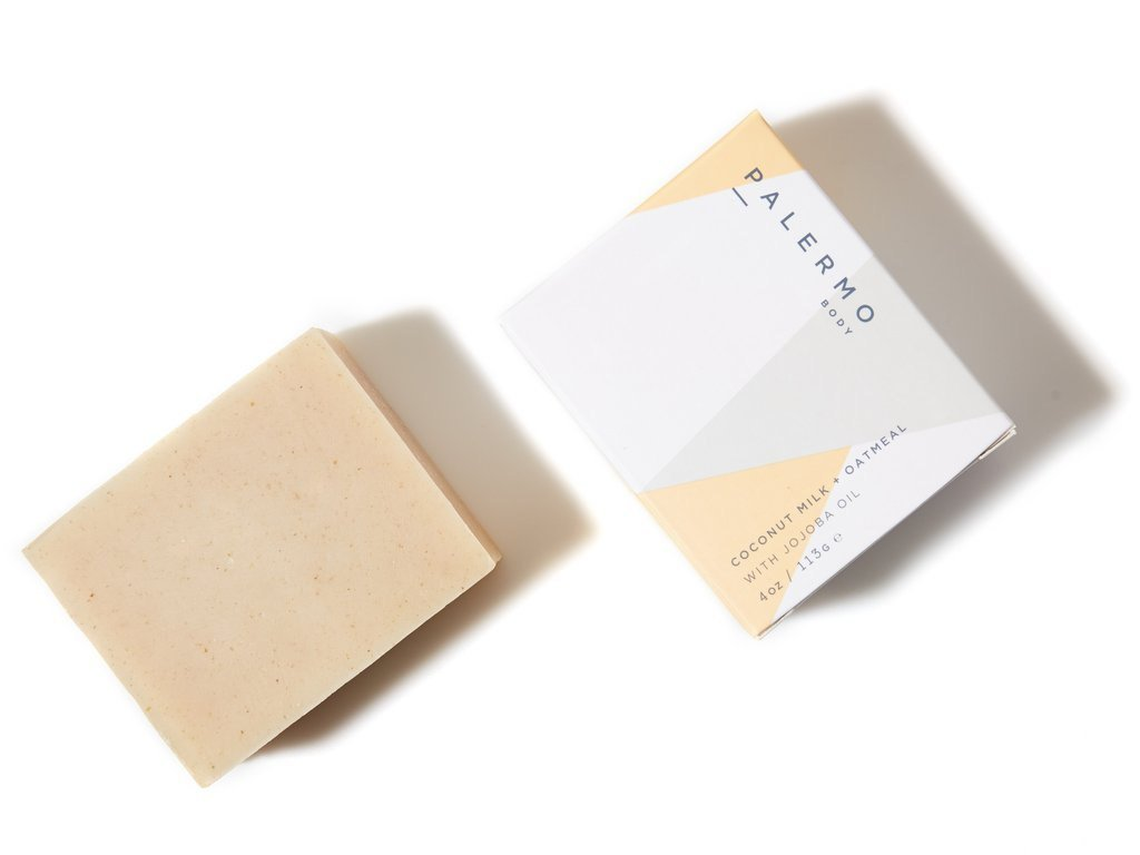 Curated image with Coconut milk and oatmeal soap from Palermo Body, $12