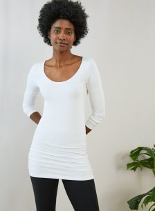 Shop Elin Top with LENZING™ ECOVERO™ Pure White and more