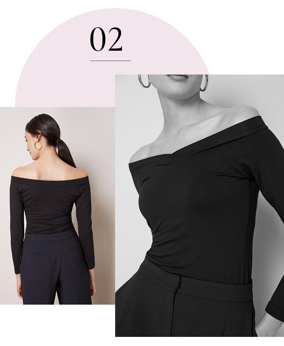 Shop Kylie Top Caviar Black, Clio Wide Leg Trousers Caviar Black and more