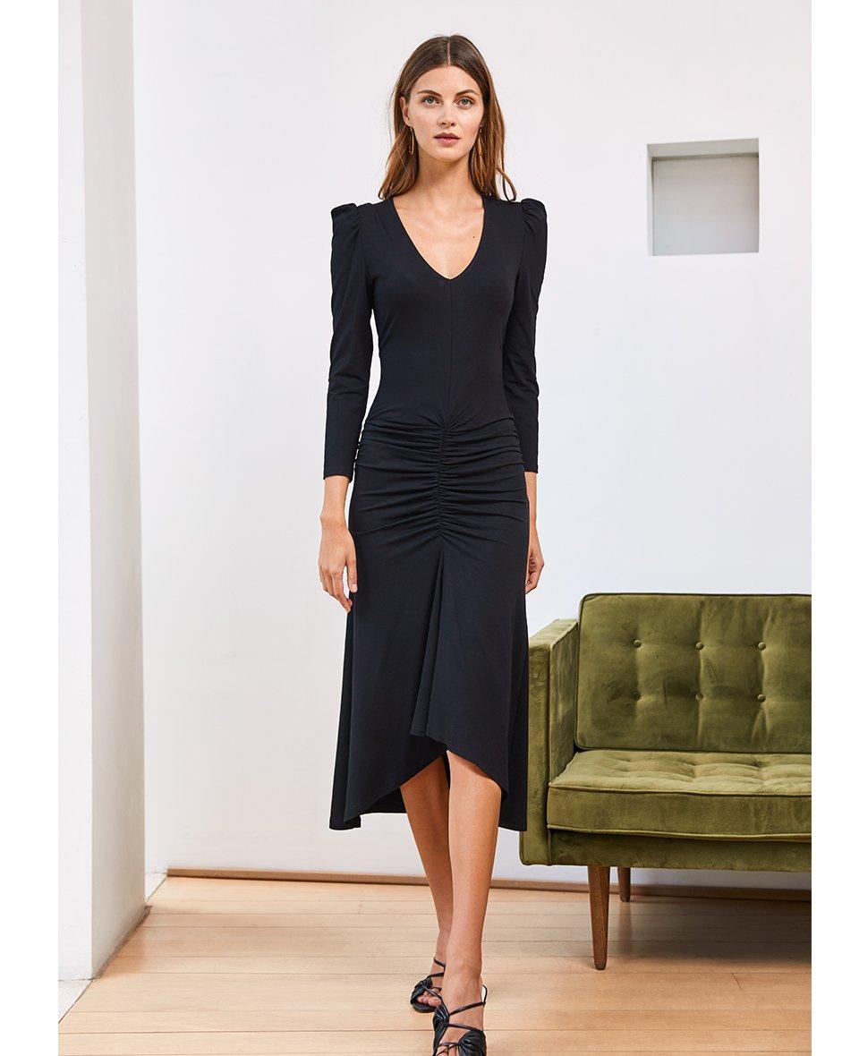 Shop Odessa Dress Caviar Black and more