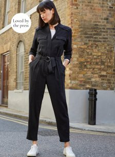 Shop Emory Lyocell Jumpsuit Washed Black and more