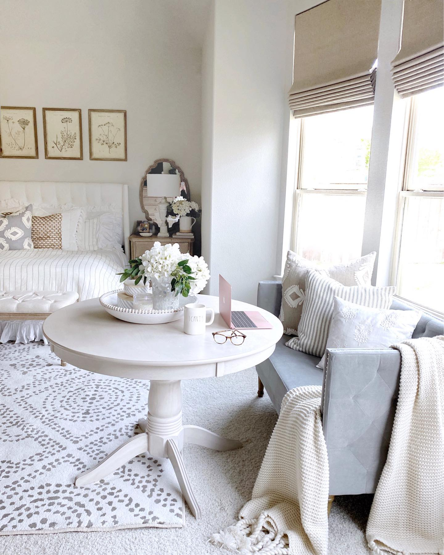 Peaceful glam home office Instagram Post