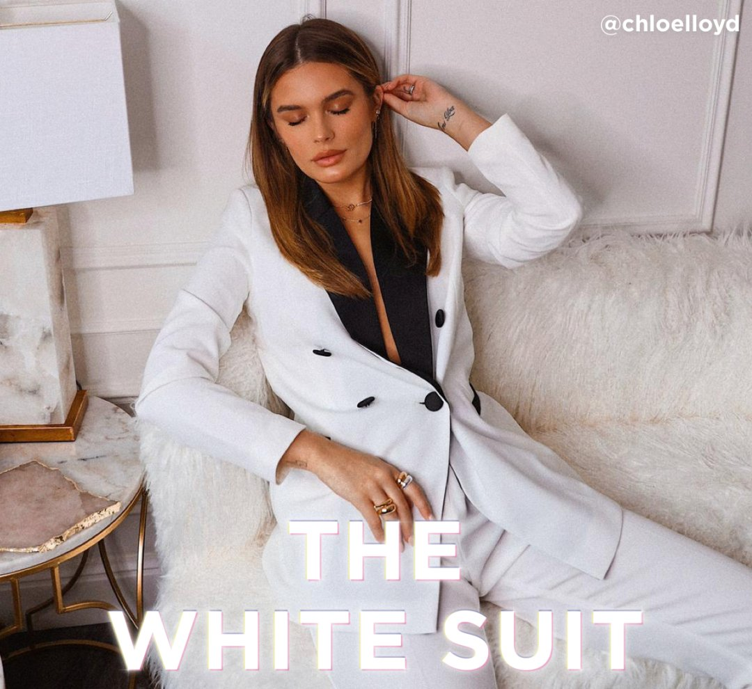 Shop River Island Womens White contrast satin lapel blazer, River Island Womens White cigarette trousers and more